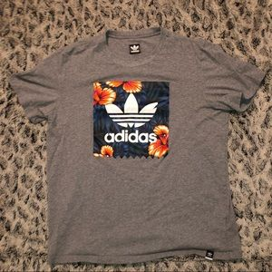 Adidas Tropical Trefoil Box Tee Shirt